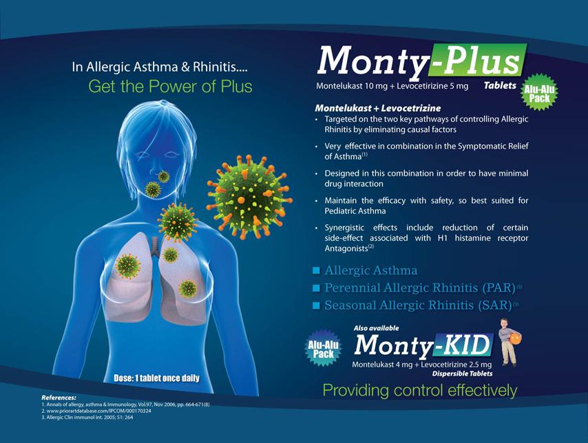 Levocetirizine 5 Mg & Montelukast 10 Mg (Dispersible)