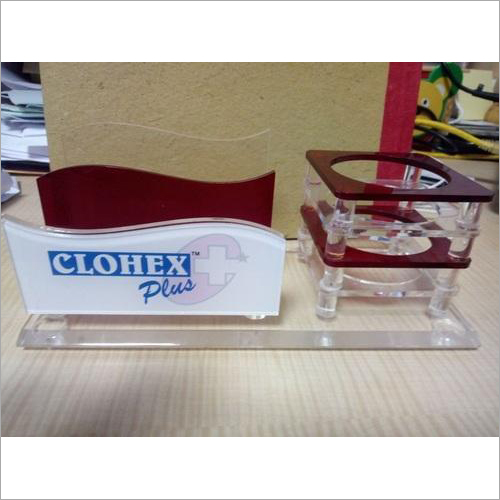 Acrylic Pen and Visiting Card Stand