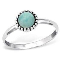 Natural Amazonite Gemstone 925 Silver Ring