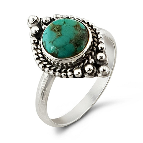 Natural Turquoise 925 Silver Ring