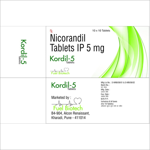 5 mg Nicorandil Tablets IP