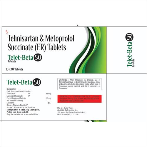Telmisartan and Metoprolol Succinate (ER) Tablets