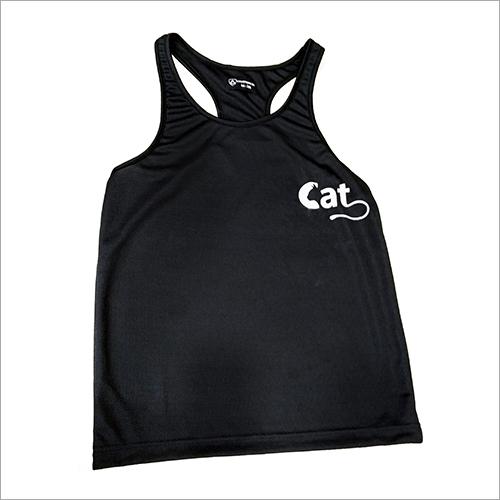 Black Trendy Gym Sando