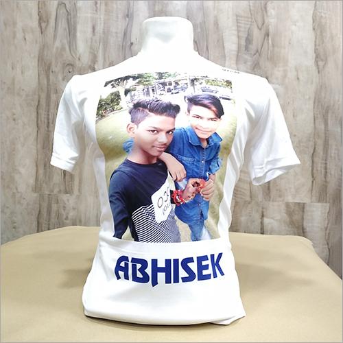 White Mens Printed T-Shirt