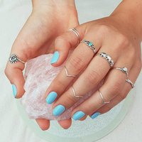 Natural Melachite 925 Silver Ring