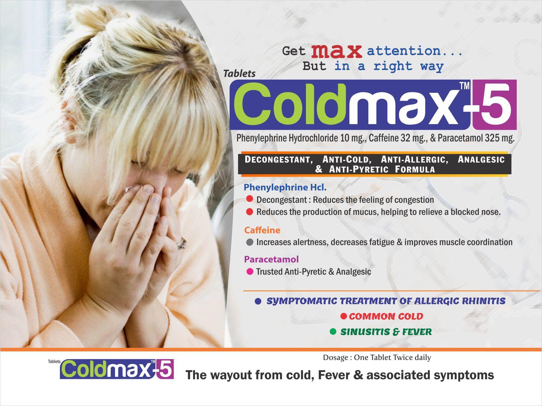Phenylephrine 10 mg, Paracetamol 325 mg & Caffeine 32 mg