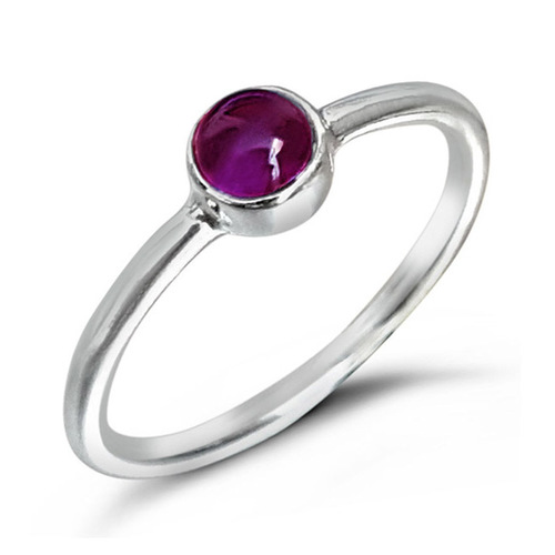 Natural Amethyst 925 Silver Ring