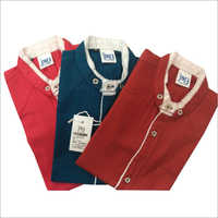 Kids Plain Shirt Set