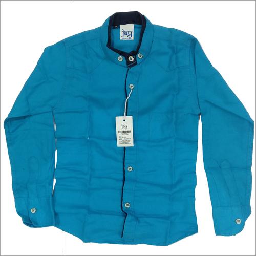 Kids Plain Cotton Shirt