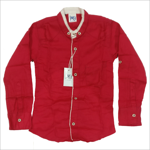 Kids Chinese Collar Shirt