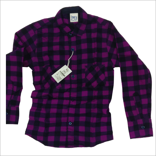 Kids Purple Check Shirt