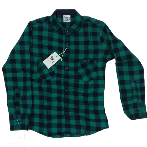 Kids Green Check Shirt