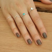 Natural Mother of Pearl 925 Silver Ring
