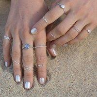 Natural Rainbow Moonstone 925 Silver Ring