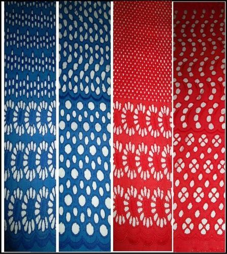 COTTON POLYTEX MERCERISED WITH HOLE EMBROIDERED FABRIC