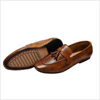 Mens Leather Party Wear Loafer Shoes