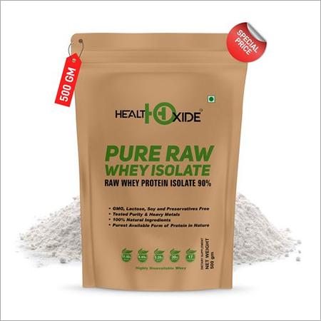 HealthOxide Whey Protein Isolate (Raw & Unflavored / 27 G Protein per Serving) 500 Gm