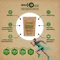 HealthOxide Whey Protein Isolate (Raw & Unflavored / 27 G Protein per Serving) – 250 Gm