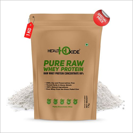 Health Oxide Pure Raw Whey Protein 80% (SERVING SIZE-30GR, 1 KG)