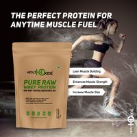 HealthOxide Pure Raw Whey Protein 80% (SERVING SIZE-30GR, 1 KG)