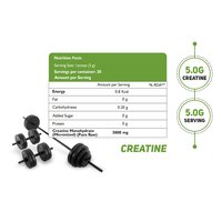 HealthOxide Pure Creatine Monohydrate for Muscle Building - 100 gm