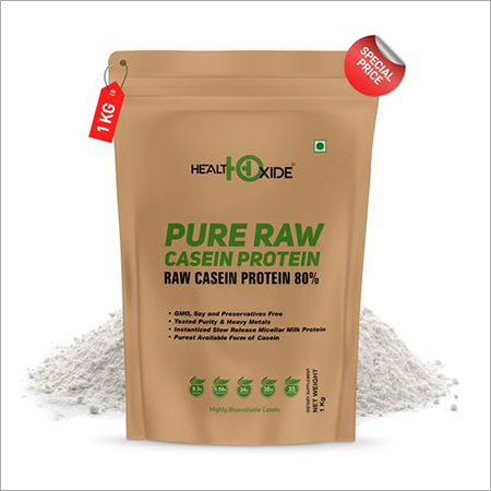 HealthOxide Pure Raw Micellar Casein Protein 80% (Raw & Unflavored / 24 G Protein Per Serving) - 1 kg