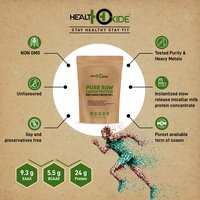 HealthOxide Pure Raw Micellar Casein Protein 80% (Raw & Unflavored / 24 G Protein Per Serving) - 500 gm