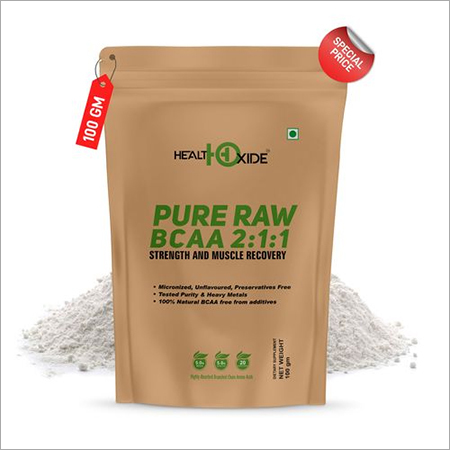 Healthoxide Raw BCAA Powder Pre/Post Workout Supplement -100 G