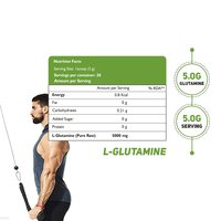 Health Oxide L-Glutamine for Muscle Growth and Recovery (Unflavored) 100 Gm