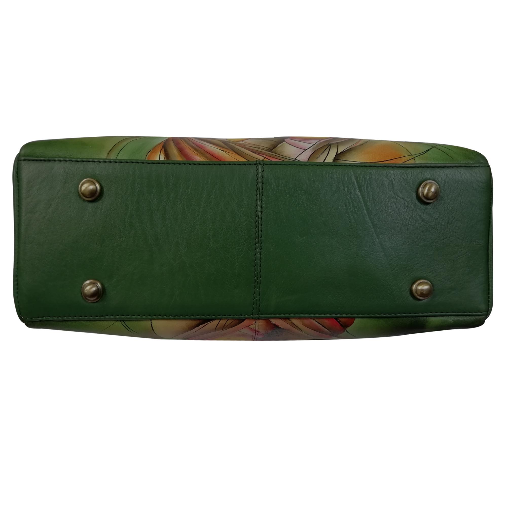 New Leather Hand Painted Shoulder Handbag Design Radha Krishna