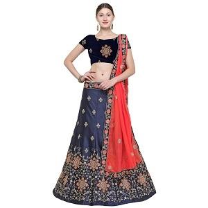 Fancy Silk Lehanga with Dupatta