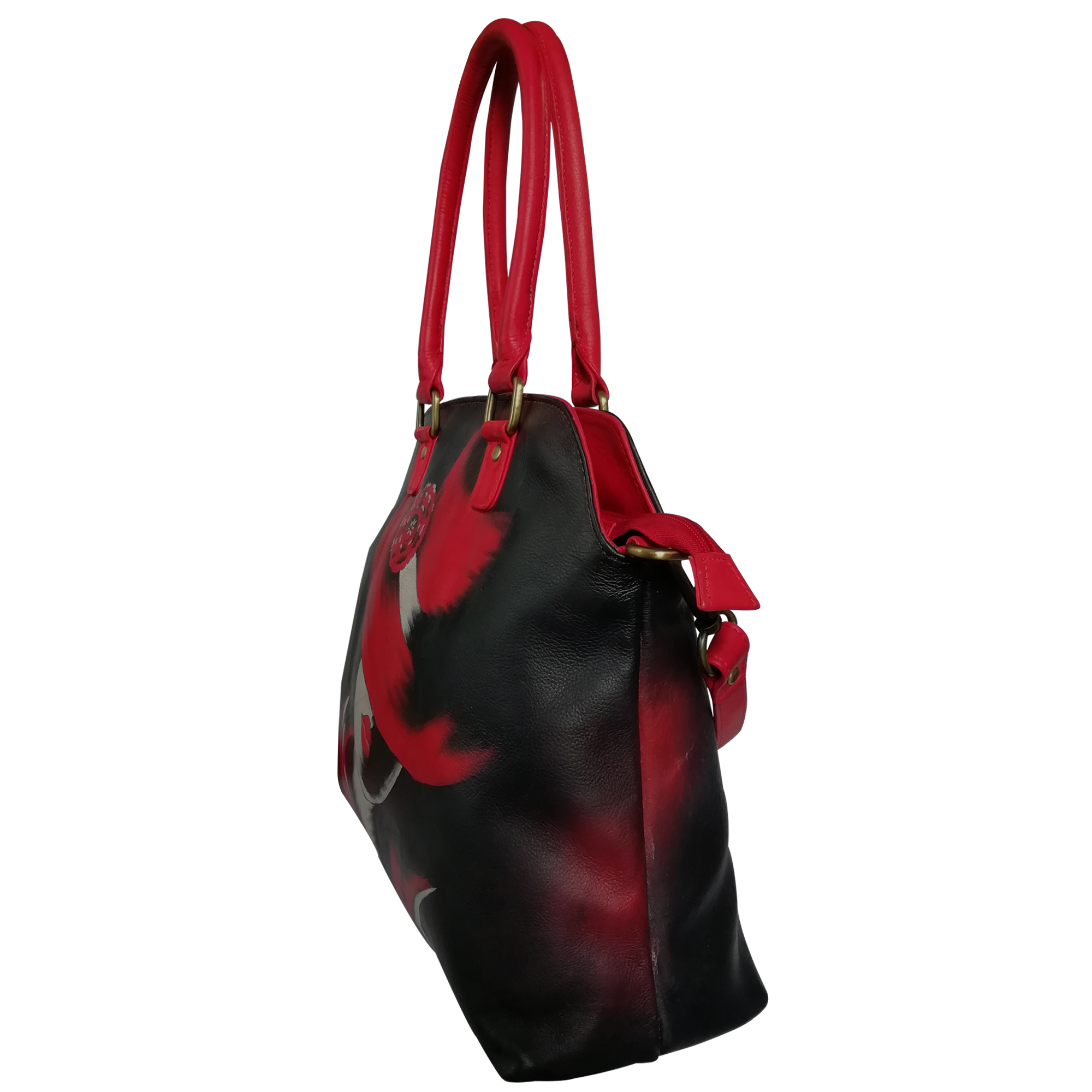 New Hand Painted Leather Shoulder Bag For Women