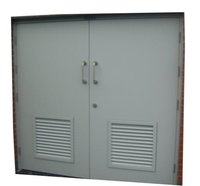 Steel Door with Louver