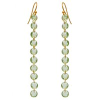 Natural Peridot Faceted Gemstone 925 Silver Handmade Earring Jewelry