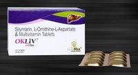 Silymarin,L-Omithine L-Aspartate,Thiamine Mononitrate,Vit. B2,Vit. B6,Niacinamide,Cal. Panto,Vit B12