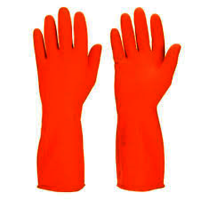 flock lined latex hand gloves