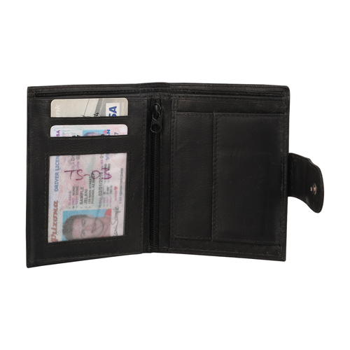 genuine leather black wallet