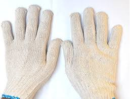 seamless cotton knitted hand gloves