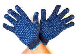 PVC DOTTED COTTON KNITTED HAND GLOVE