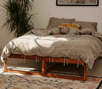 solid wood double bed Slighter