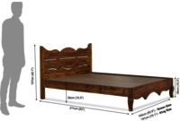 Solid wood bed Monarch Two trolly