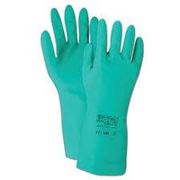 NITRILE HAND GLOVES-FLOCKLINED