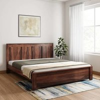Solid wooden bed Chrome
