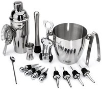 Bar Tool Set with Ice Bucket 16 pcs