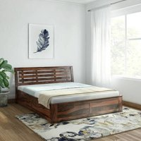 Solid wood bed floorbase Stripe