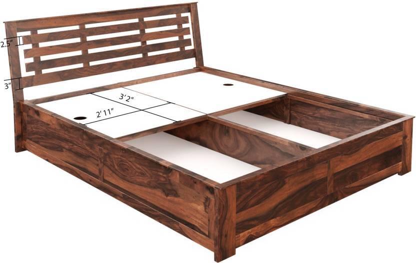 Solid wood bed floorbase Stripe