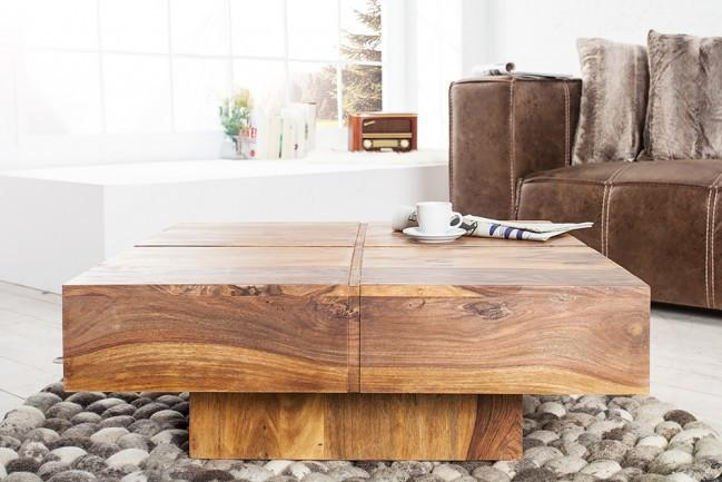 Solid wood Center Coffee table Square shape