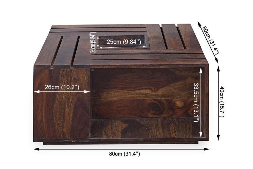 Solid wood Center Coffee table Cubic