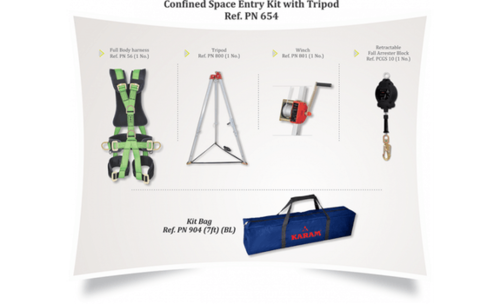 TRIPOD WITH WINCH (CONFINED SPACE ENTRY KIT)