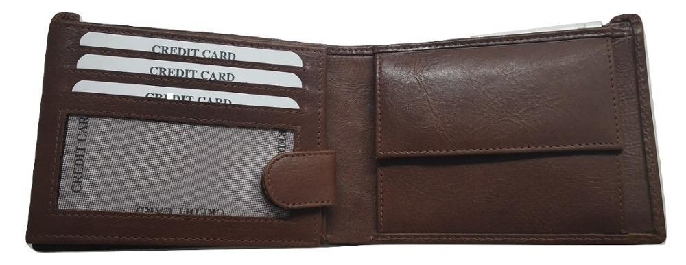 Genuine Leather Trifiold Wallet for Men